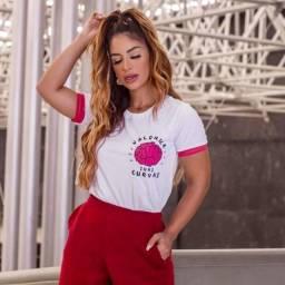 T-Shirt Feminina -Valorize Suas Curvas!