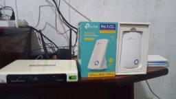 Roteador e repetidor wi-fi marca tplink