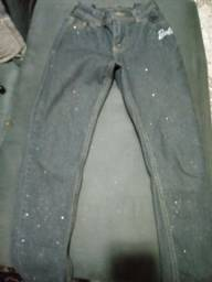Calça jeans Barbie C&A tamanho 10 anos semi nova