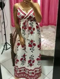 Vestido longo florido - GG