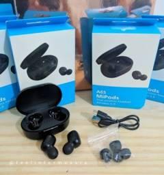 Fone Bluetooth 5.0 Earbuds A6s Mipods NOVO (Aceito cartão)