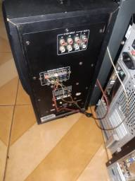 Home theather 5.1ch da orange/xenta 125watts rms usb sd card controle