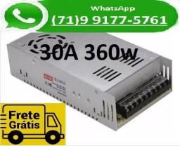 Título do anúncio: Fonte Chaveada Transformador 110v -220v Para 12v 30a 12 Volts 30 Amperes (NOVO)