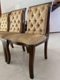 Conjunto de 6 cadeiras em madeira