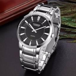c15d498fb45d2 Curren Relógio Quartz de Masculino com Mostrador Grande Escala de Unhas -  Preto