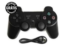 Controle playstation3 computador pc cabo usb 10 - entrega grátis