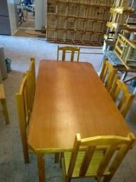 Jogo de mesa de 6 cadeiras Altura 150mt por 80cm de largura nova