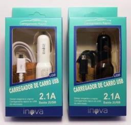 Título do anúncio: Carregador veicular v8 2.1a Inova El-dc 051