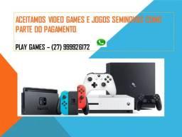 Video Games e Jogos Seminovos como parte do pagamento