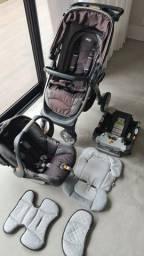 Título do anúncio: Chicco Bravo Carrinho Bebê Conforto Travel System 3 Em 1