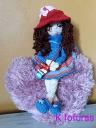 Lindas bonecas em crochê, para amar ou presentear
