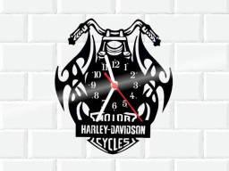 Relógio de parede, Hayley Davidson, em vinil