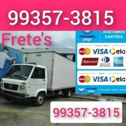 Título do anúncio: Frete baú caminhão aceitamos cartões