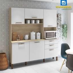 Título do anúncio: Cozinha Compacta Ferrara 6 Portas Savana ( NOVA NA CAIXA )