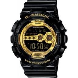 Título do anúncio: Relógio G Shock GD-100GB-1 Black and Gold Series