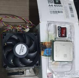 AMD A4 4000 com cooler NOVOS.