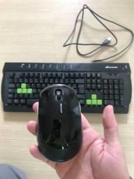 Mouse Microsoft + teclado Fortrek