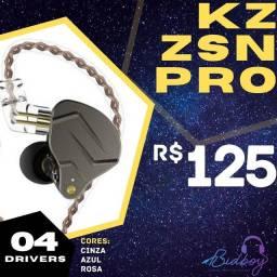 Título do anúncio: KZ ZSN PRO - NOVO, LACRADO, PRONTA ENTREGA - Fones retorno in-ear