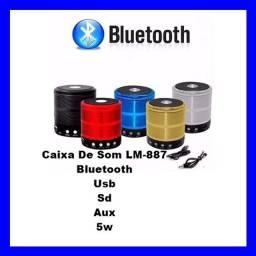 Caixa De Som  Bluetooth Usb Sd Aux 5w LM-887