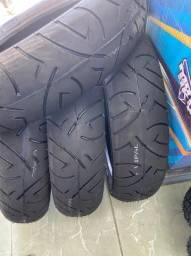 Título do anúncio: pneu traseiro para cb300 fazer250 mt03 140/70-17 remold entrega todo rio