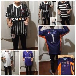 Lote camisas Corinthians infantil tamanho g