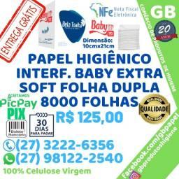 Papel Higiênico Interfolha Extra Soft Folha Dupla 8000 Folhas Entrega Grátis NF