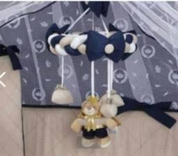 Trio realeza azul marinho e móbile ursinho realeza