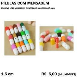 Pílulas com Mensagens - 10 Unidades