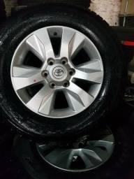Jogo de rodas aro 17 Toyota Hilux srv (original)