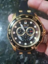 Relógio Invicta Pro Driver original banhado a ouro