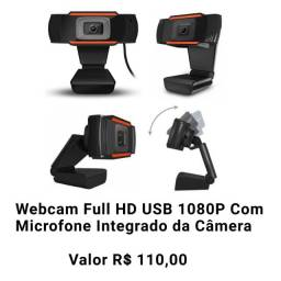 Webcam Full HD Usb 1080P Com Microfone Integrado da Câmera