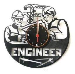 Relógio de parede, Engenheiro, Em Vinil