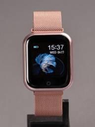 Smartwatch Relógio Inteligente P80 Preto 2 Pulseiras Multe esportes saúde