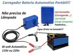Carregador de baterias portátil para carros e motos
