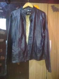 jaqueta de couro sintético Gg