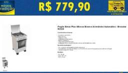 Fogão sirius 4 novas branco acendendor automático - Brasalar - R2520