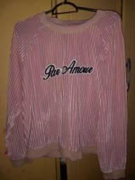 Blusão rosado
