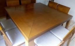 Sensacional Mesa de Jantar Quadrada com 08 cadeiras