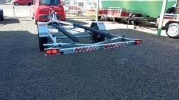 Carretas para Barco de até 4,8m/5,80m- Carretinha Zero KM