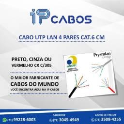 Cabo UTP lan 4 pares CAT.6 cm