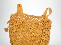 Bolsa Caramelo De Crochê