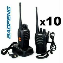Lote 10 Rádio Comunicador WalkTalk bf-777s<br>