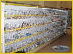 Gondolas expositora lateral 1 .60x40x30 base +4 prat
