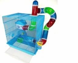 Vendo Gaiola Hamster American Pets azul 2 Andares + Labirinto