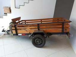 Vende-se carretinha 2,20x1,20 com doc 2018 na mao