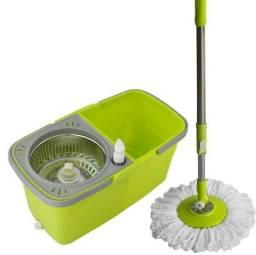 Balde Spin Mop 360 Centrifuga inox com Esfregão