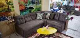 Sofás novos de fabrica tecido suede, várias cores 599,00