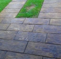 Tábua de concreto que imita madeira, passadeira, pisadeira, revestimento, anti-derrapante