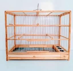 Gaiola Madeira Quadrada Nº2 Aves Pássaros