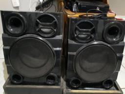 Aparelho de som com placa queimada, mas as caixas funcionando
